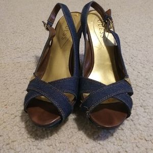 Guess Denim Wedges 9M